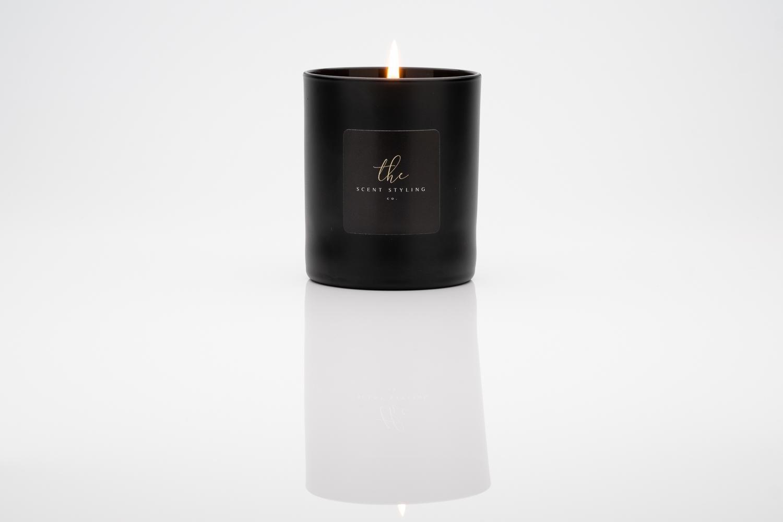 Black glass with black wax